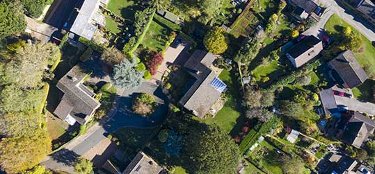 Aerial View of Homes